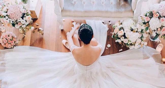 bodas originales vestido y peinado